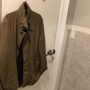 Burberry men's hooded jacket olive